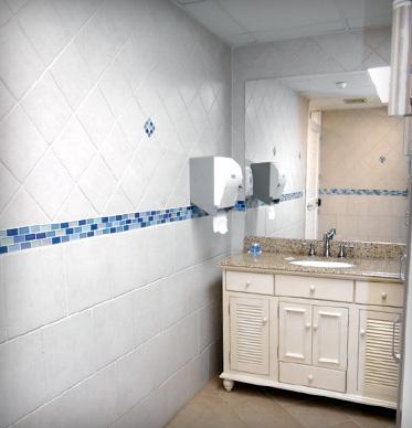 renovated bathroom facility