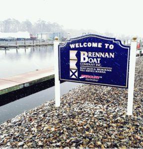 Brennan Boat marina sign
