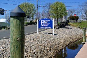 sign at entrance to brennan boat
