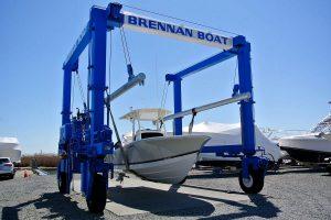 launching a boat at brennan boat