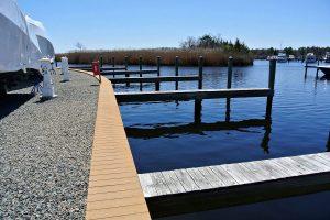 empty slips at brennan boat marina