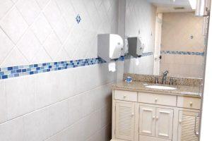 renovated bathroom at brennan boat